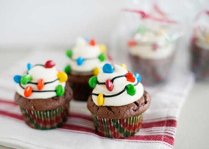 adorables propuestas de recetas navideñas faciles en imagenes, magdalenas de chocolate