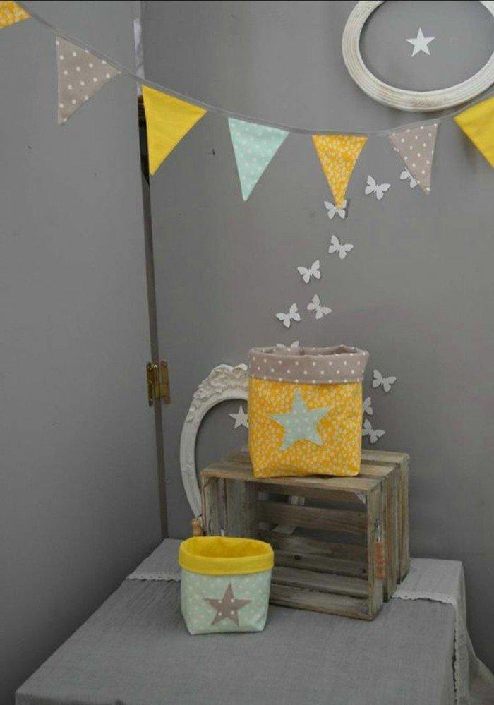 ideas sobre con que color puedo combinar el gris, paredes en gris, decoración en amarillo, dormitorio infantil