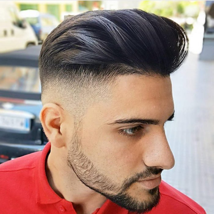 cuáles son las mejores propuestas de peinados degradado, nuca rapada, sienes cortos, barba y bigotes