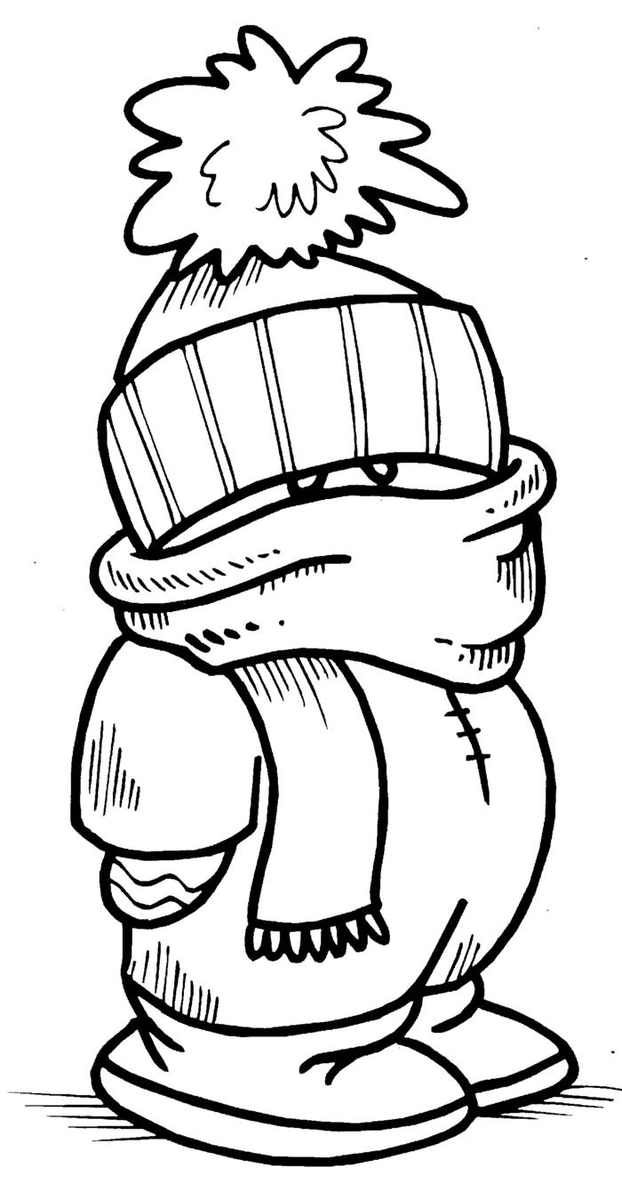 dibujo imprimible invernal, ideas de dibujos originales para niños de todas las edades y adultos