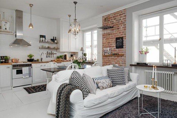 decoración de encanto de pisos abiertos, como decorar una habitacion de estudio en estilo escandinavo