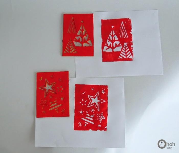 como hacer postales navideñas infantiles con plantillas de fieltro, ideas super originales in imágines