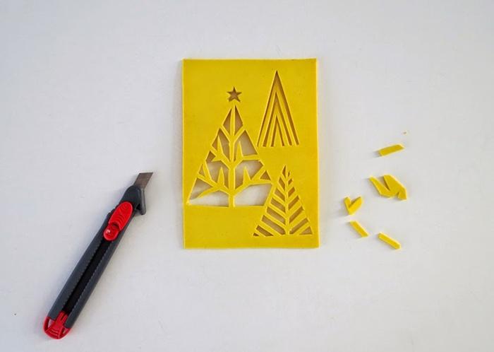 plantillas para decoracion de postales navideñas infantiles, originales ideas para decoración de tarjetas navideñas