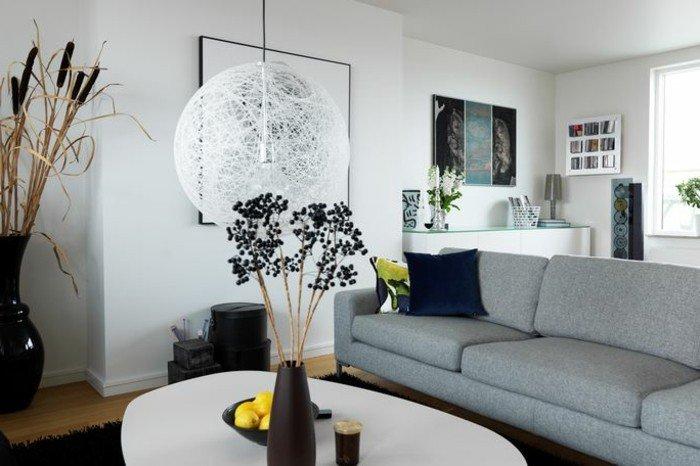 salones modernos decorados de diseño, fotos de habitaciones pintadas en dos colores