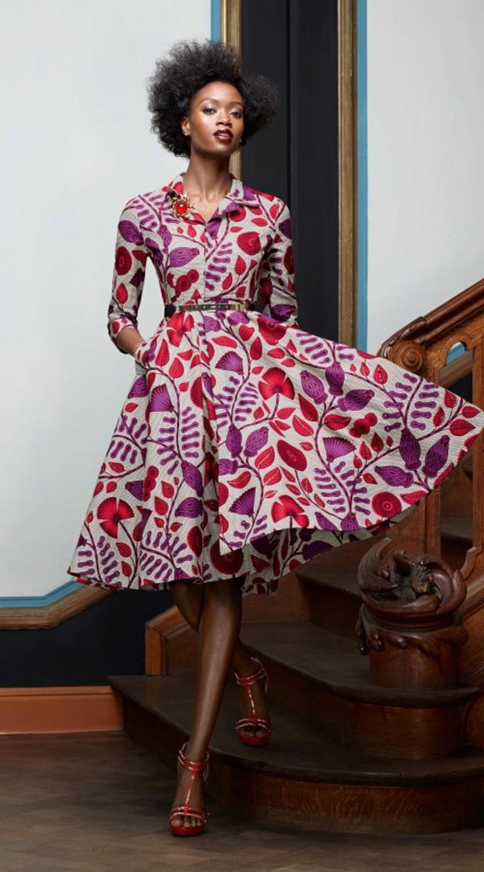 tendencias moda mujer, bonitos vestidos con estampados etno en estilo boho chic, ropa africana wax