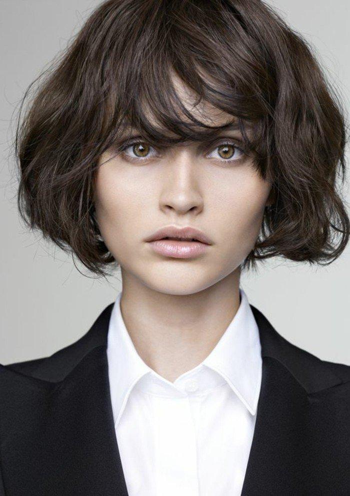 cuáles son las últimas tendencias para pelo castaño, 80 ideas en bonitas imagines