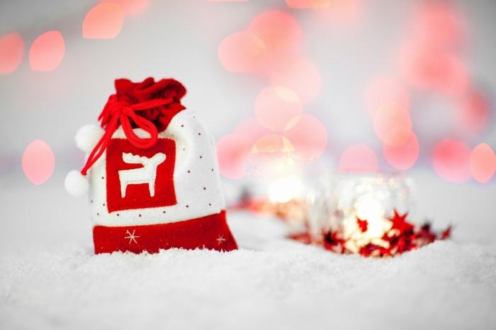 imagines de navidad en blanco y rojo, paisajes navideños bonitos para enviar a tus seres queridos