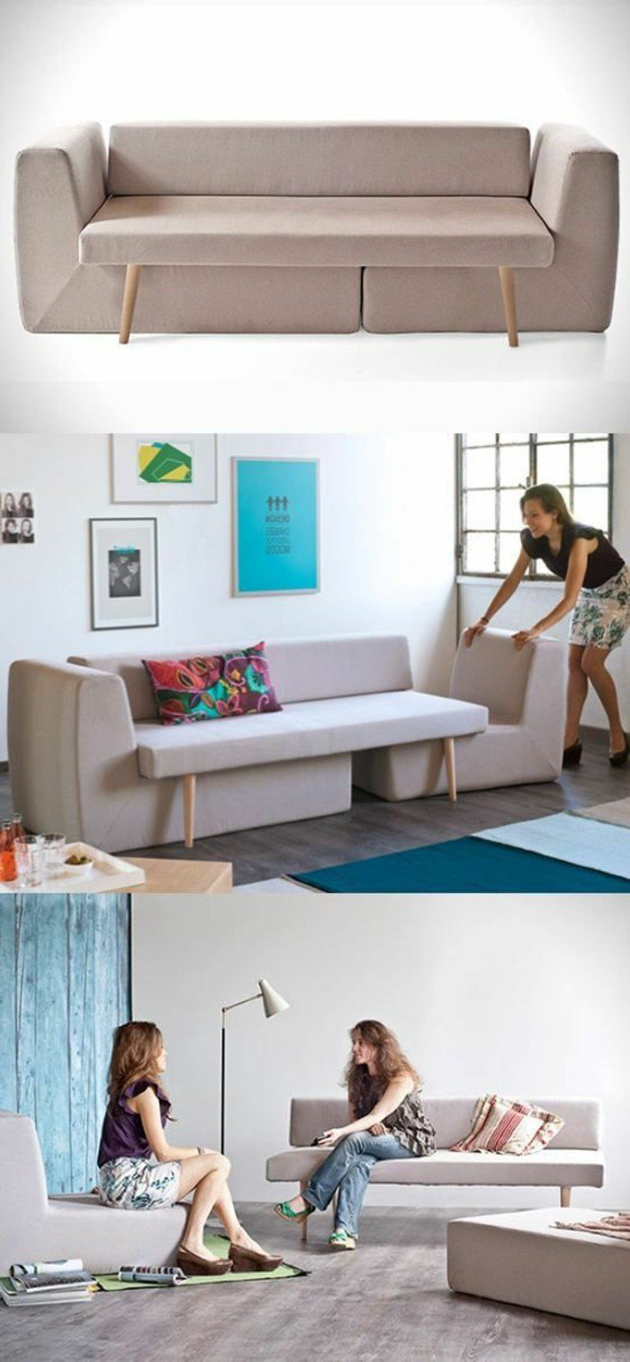 escoge muebles plegables y multifuncionales para tu salón de pequeñas dimensiones, imagines salones modernos