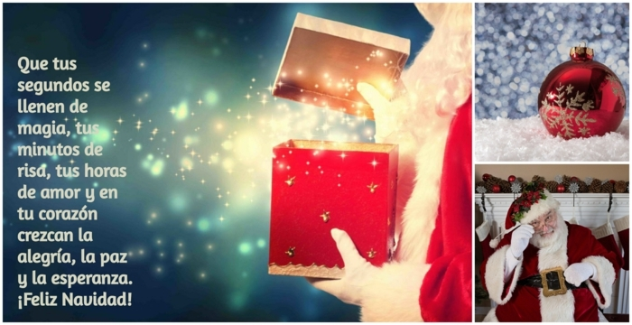 bonitas felicitaciones de navidad originales en fotos, imagines navideños temáticos con papa noel