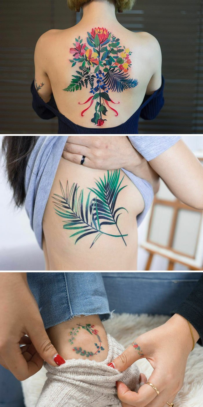 algunos de los mejores diseños de tatuajes de flores en fotos con algunos significados