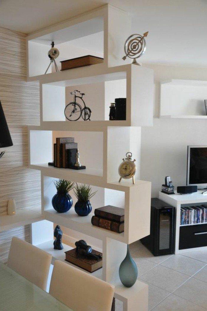 muebles modernos para separar el espacio en un estudio, decoracion salon moderno