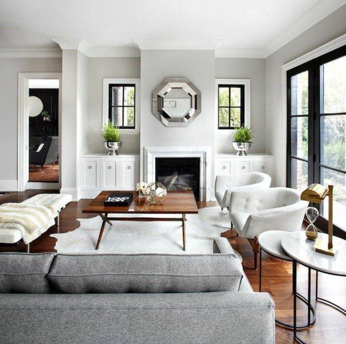 espacio acogedor con acabados de madera decorado en gris y blanco, ideas de habitacion gris y blanca