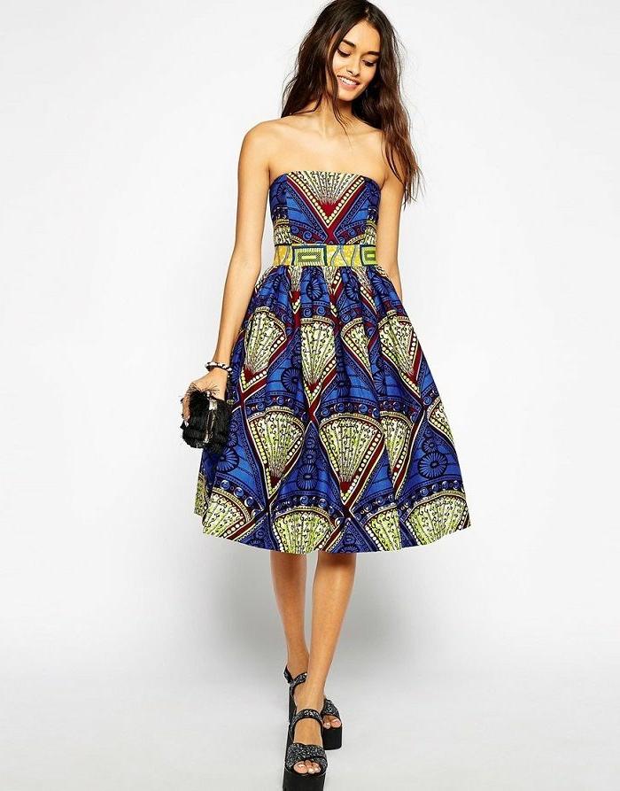 imagines de adorables vestidos modernos inspirados en la tradición africana, diseños en tendencia estilo bohemio