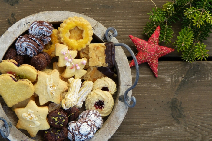 tarjetas de navidad originales para compartir con tus amigos en navidad, ricas galletas navideñas