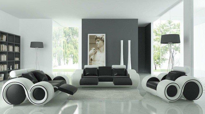 alucinantes ideas sobre cómo decorar un espaco moderno, sillones originales pinturas