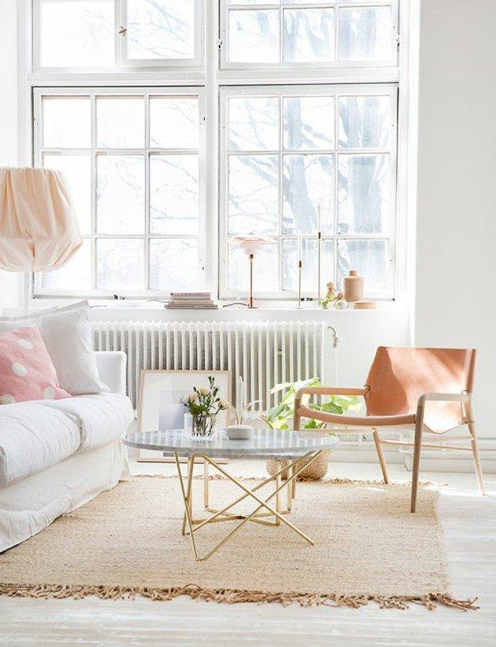 fotos de decoracion de salones pequeños, decoración en colores claros, pequeña mesa