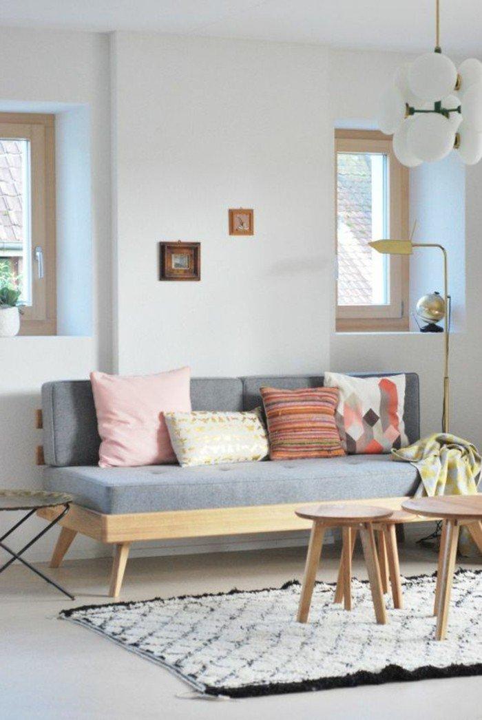 salones acogedores decorados en tonos pastel, decoracion de salones pequeños con muebles de diseño