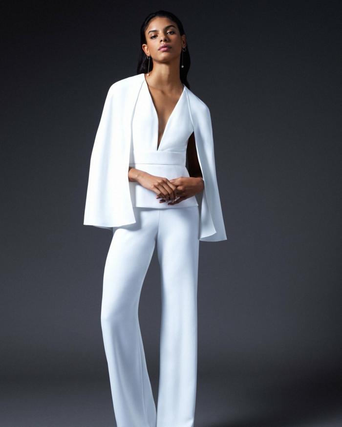 preciosos diseños de mono blanco para novias, monos bonitos para novias e invitadas de bodas