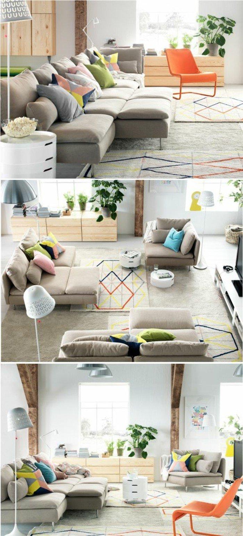 muebles multifuncionales para salones pequeños, bonitas imagines de salones de pequeñas dimensiones