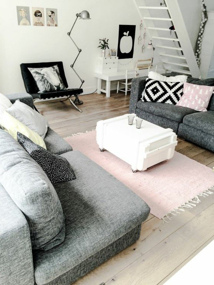 espacios pequeños decorados en tonos neutros, como decorar un salon pequeño para ganar espacio