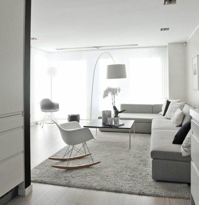 cómo decorar un ambiente en color gris perla, espacio en estilo minimalista, espacio decorado en blanco y gris