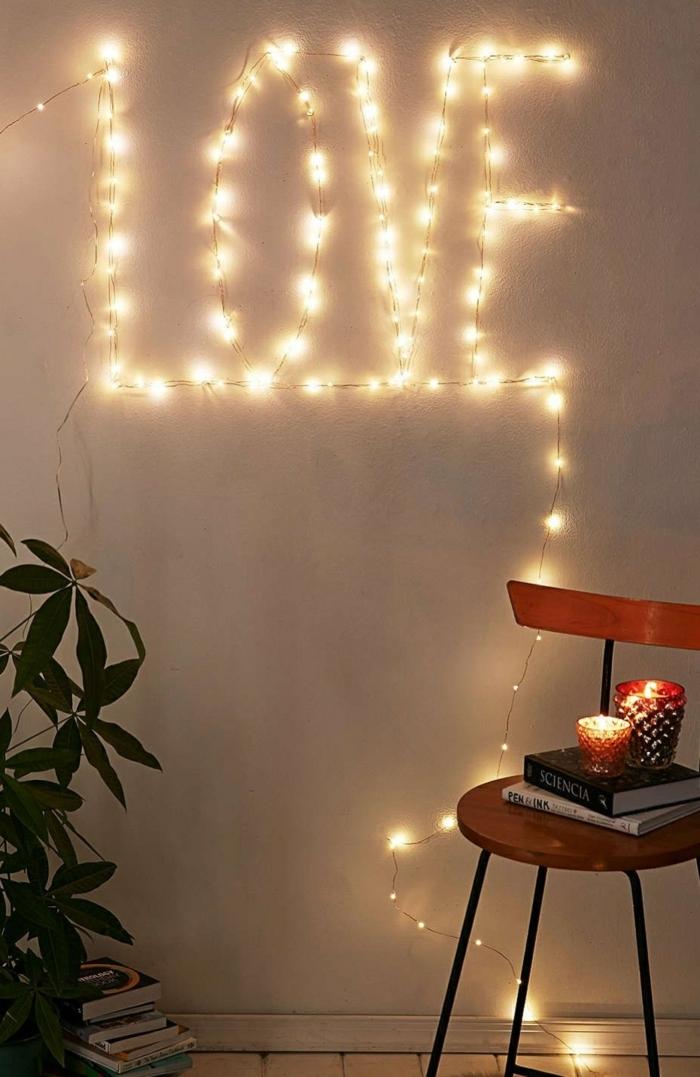 originales propuestas sobre cómo puedes decorar tu hogar con bombillas de led, decoración para la pared DIY