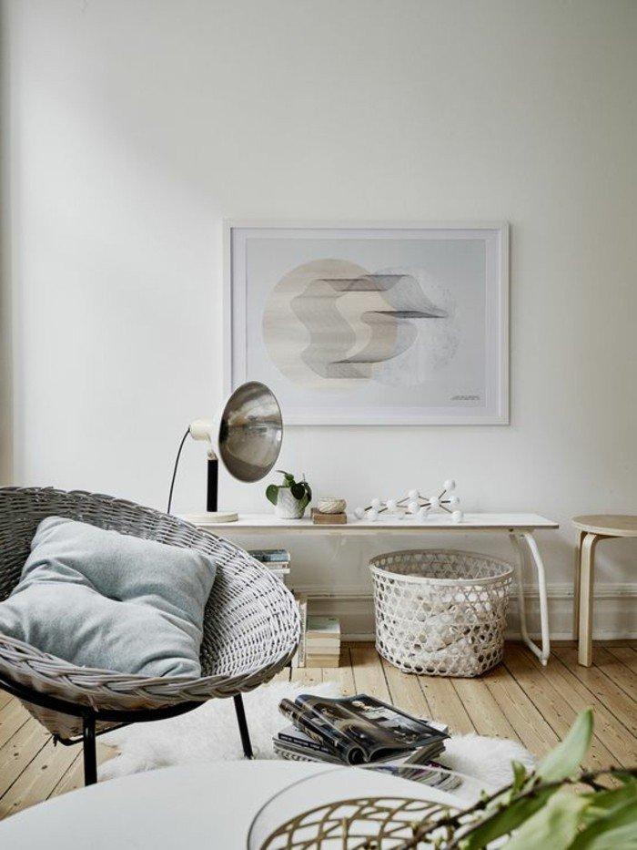 preciosa decoración en blanco y gris de un salón pequeño, decoracion salon moderno 2018