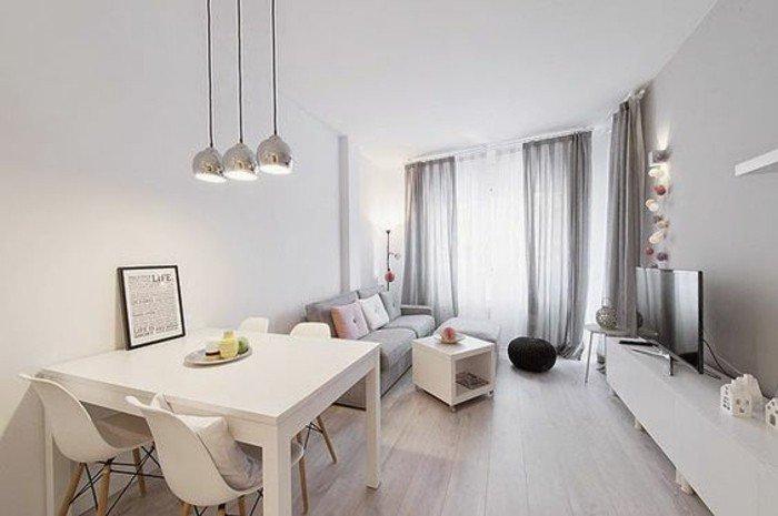 decoracion salon moderno en blanco y gris, combinaciones de colores ganadoras, espacios modernos