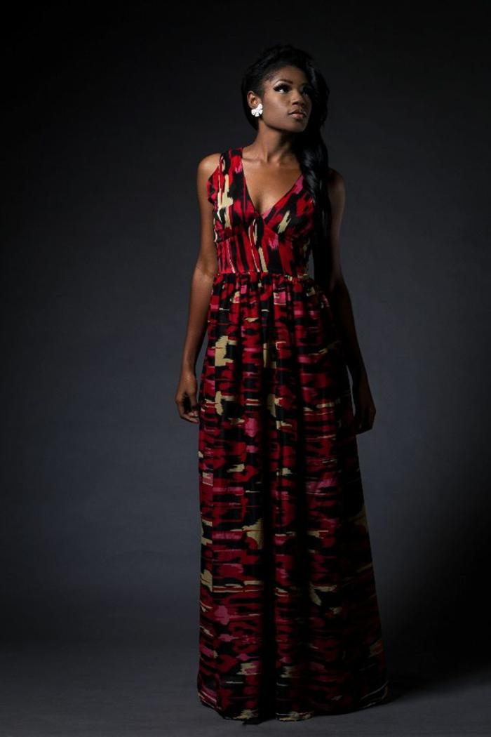 elegante vestido africano taparrabos en colores oscuros, fotos de vestidos modernos ropa africana