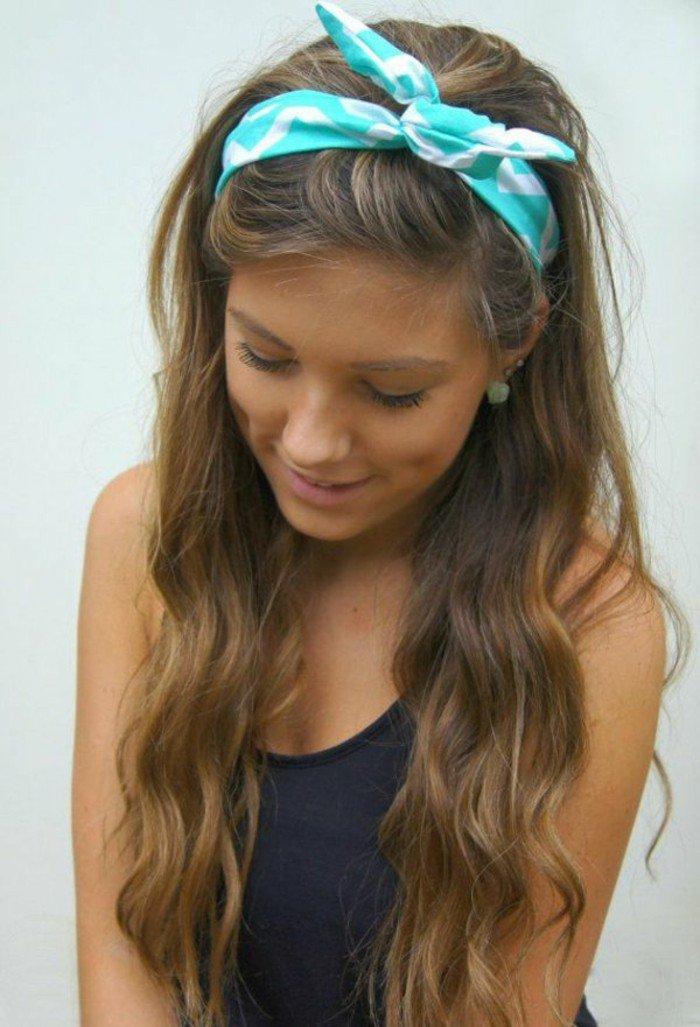 largo cabello color castaño claro mechas rubias, mechas balayage pelo oscuro