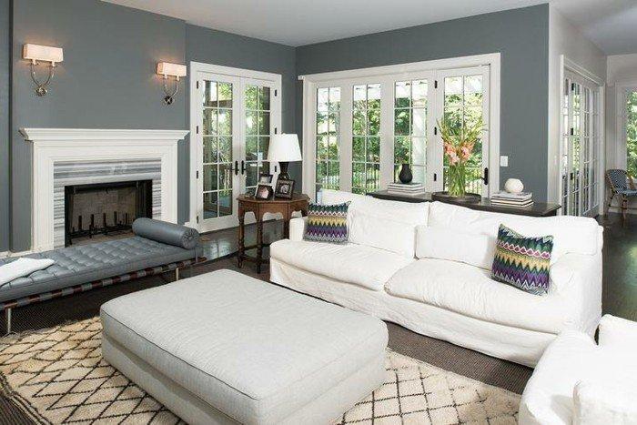 cómo decorar un salón en blanco y gris, habitacion gris on paredes grises oscuras