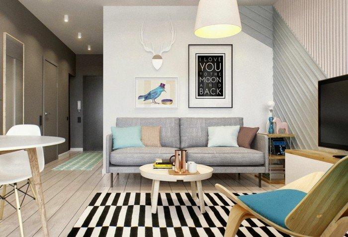 decoración de interiores 2018 2019, salones pequeños decorados con mucho encanto