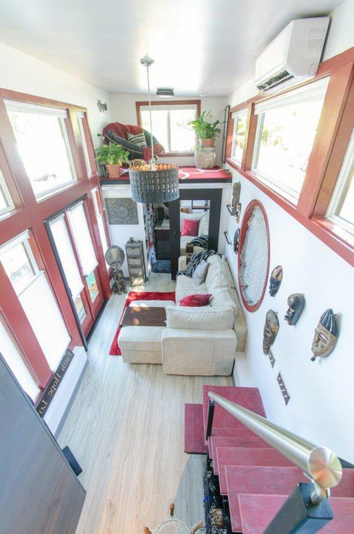espacios pequeños y estrechos decorados de encano, salón decorado en estilo bohemio