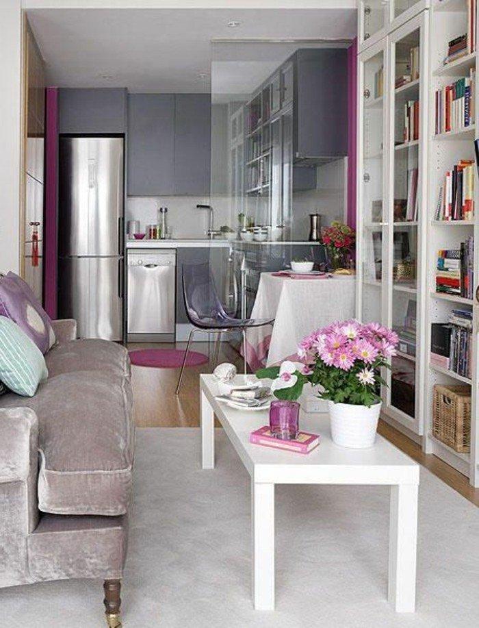 salón comedor pequeño y estrecho decorado en tonos pasteles, cómo aprovechar al máximo el espacio en un salón pequeño