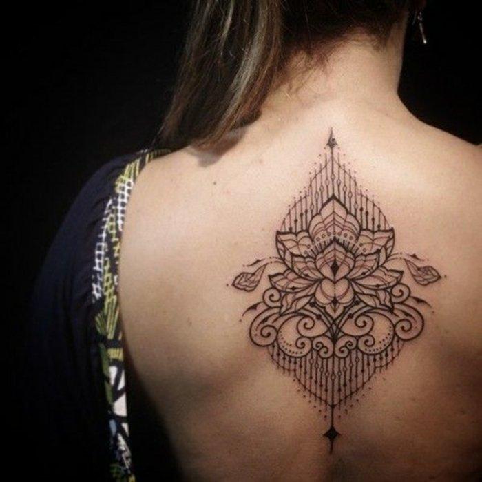 tatuaje flor de loto en la espalda, más de 70 fotos de tattoos con flores y flor de loto tatuaje mujer