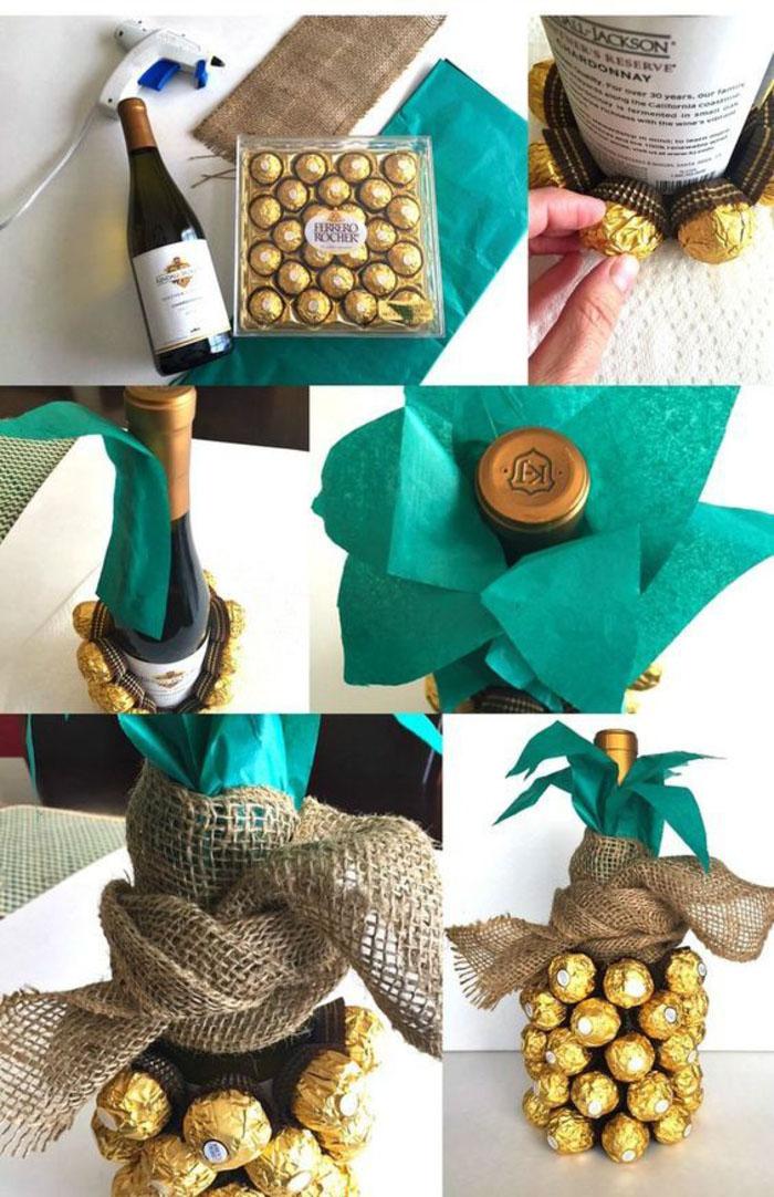 fotos de botellas de vino personalizadas con tutoriales paso a paso, embalajes originales con caramelos