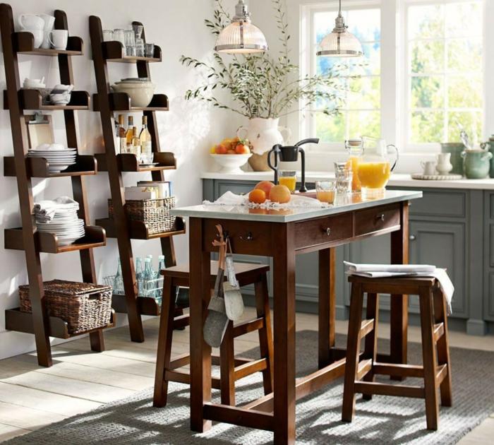 preciosos ejemplos de cocinas decoradas en estilo rústico con muebles de madera, fotos de cocinas pequeñas con isla