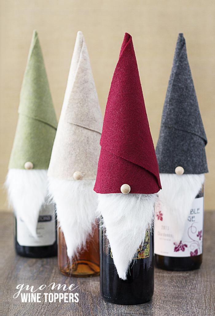 alucinantes propuestas de botellas de vino personalizadas, decoracion botellas de vino con fieltro