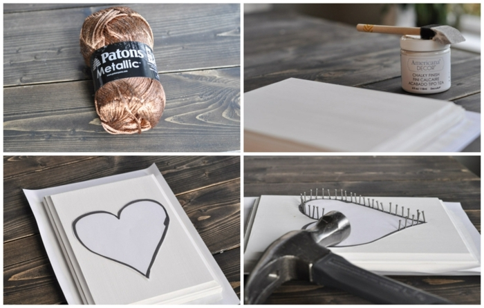 como hacer un cuadro decorativo corazón original paso a paso, manualidades para san valentin