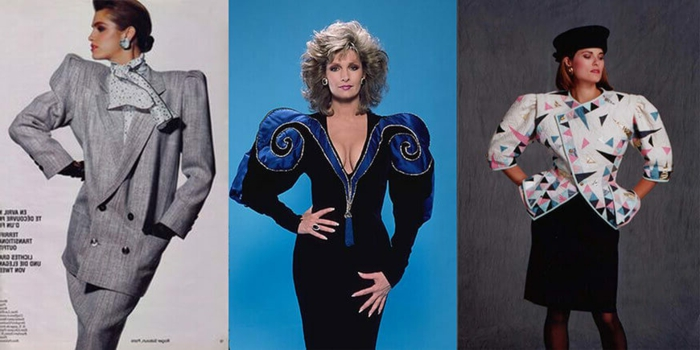 prendas con hombreras marcadas, ideas de vestuario moda de los 80, chaquetas oversize