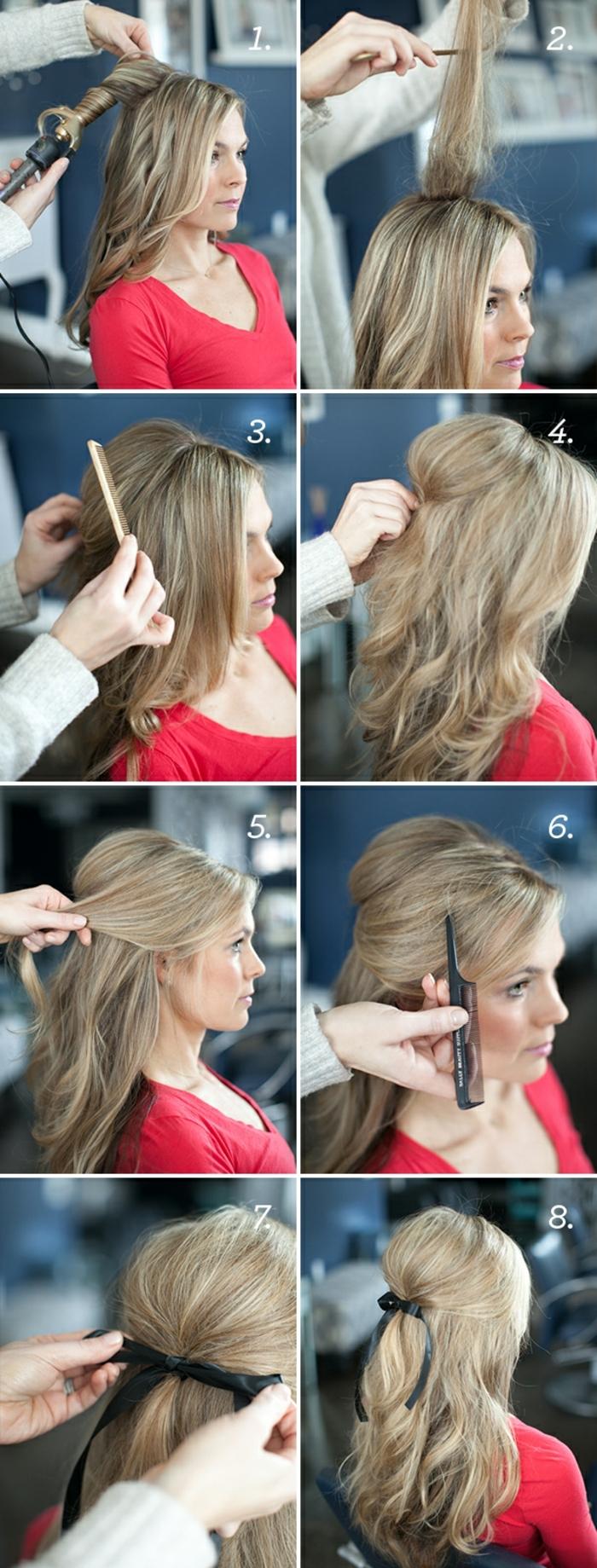 ideas originales de peinados pelo largo para ir a una fiesta, como hacer un semirecogido elegante y bonito paso a paso