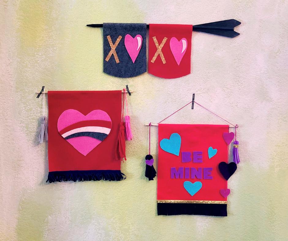 fantásticas propuestas de manualidades con fieltro para regalar para el dia de san valentin