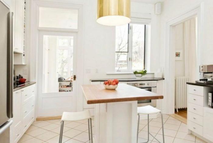diseños de cocinas modernas decoradas en blanco, ideas sobre cómo aprovechar el espacio al máximo