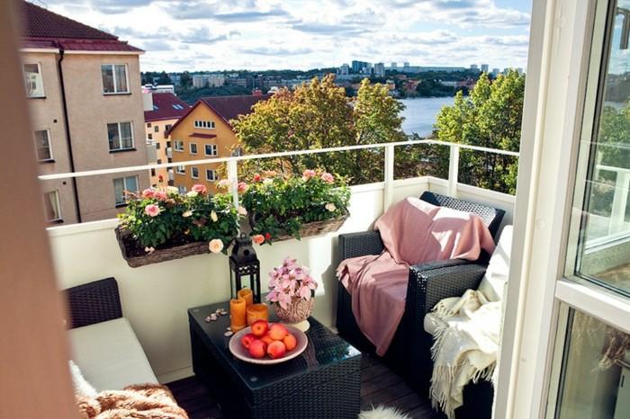 maravillosa terraza con bonita vista al río, adorables ideas de decoración terrazas pequeñas