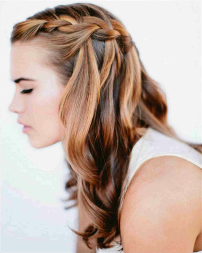 preciosas propuestas de peinados pelo suelto para mujeres, peinados de novia originales con trenzas