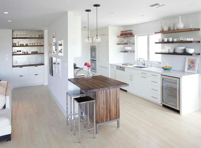espacios decorados en blanco, ideas de decoración para aprovechar mejor el espacio, salón comedor moderno