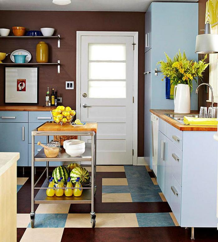 decoración de cocinas de tamaño pequeño, cocinas pequeñas en l, coloridas propuestas para cada uno