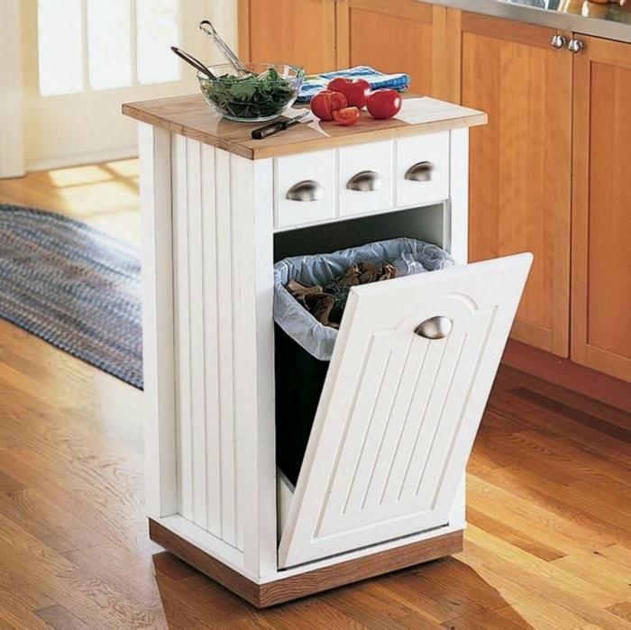 muebles funcionales y originales para espacios pequeños, cocina americana pequeña moderna
