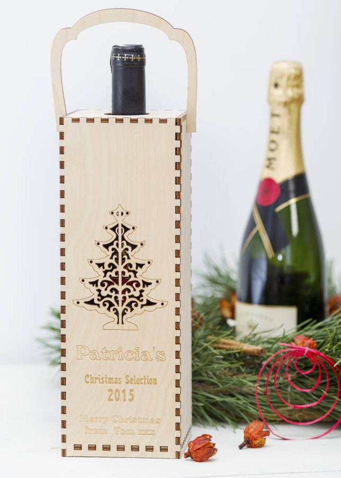 preciosas propuestas de cajas de vino personalizadas para regalar, botellas personalizadas de champán