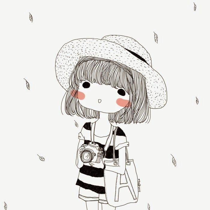 ideas originales y fáciles sobre como dibujar una niña, niña en estilo japones, preciosos dibujos para descargar